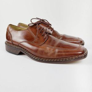 Stacy Adams cognac brown oxford shoes mens 9M